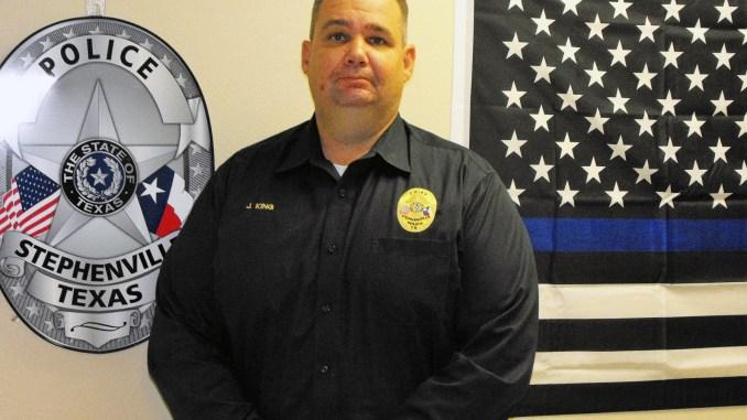 Stpehenville Police Chief Jason King || Flash photo by DAVID SWEARINGEN