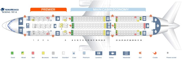 Seat Map Boeing 787 8 Aeromexico