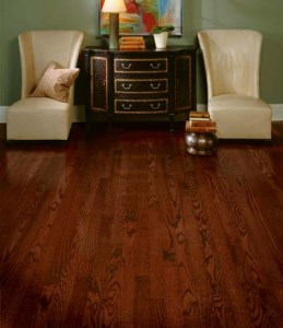 oak flooring in Los Angeles California cherry stain