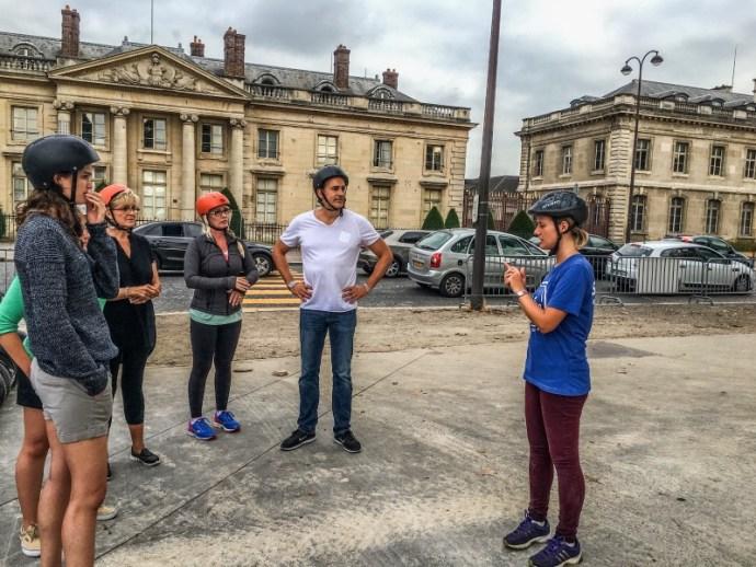 Tour guide explains the sights