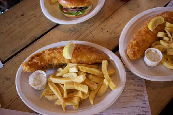 Sutton & Sons Lovely Jubbly fish and chips