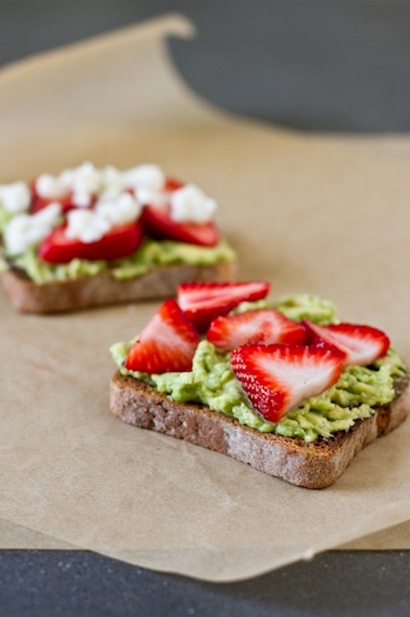 Avocado, Strawberry, Goat Cheese Sandwich recipe by Edible Perspective