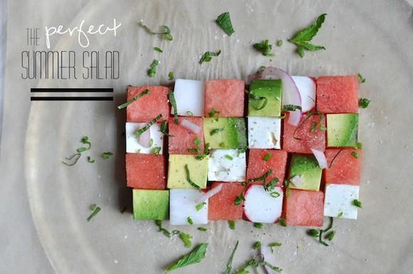 Avocado Watermelon Salad recipe by Whisked