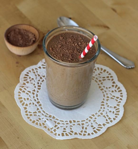Chocolate Avocado Banana Milkshake recipe by Meaningful Eats