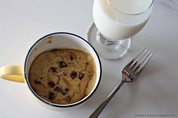 Top your hot cookie with ice cream and hot fudge and then serve. Photo and recipe from number-2-pencil.com