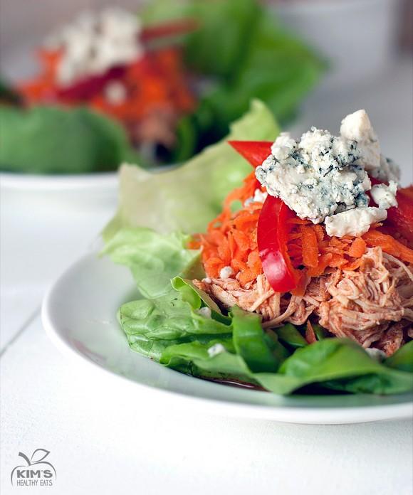 Crock Pot Buffalo Chicken Lettuce Wraps recipe photo