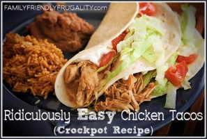Ridiculously Easy Crockpot Chicken Tacos recipe photo