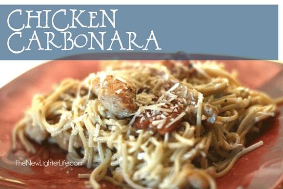 Chicken Carbonara recipe photo