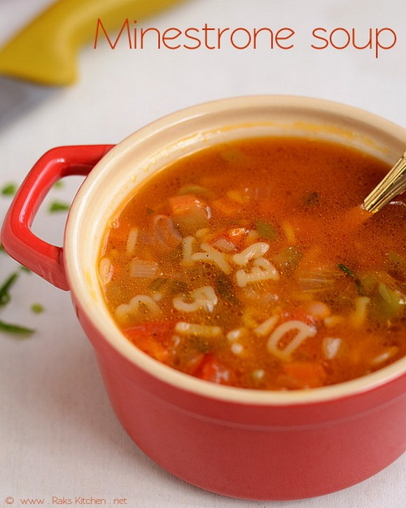 Minestrone Soup with Pasta recipe photo