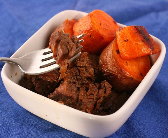 Slow Cooker Maple Barbecue Beef recipe photo