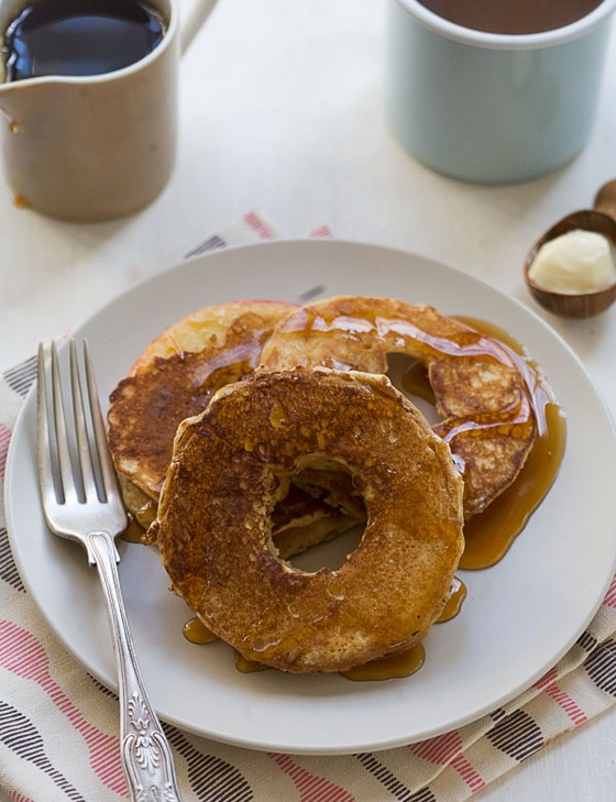 Spiced Apple Ring Pancakes recipe photo