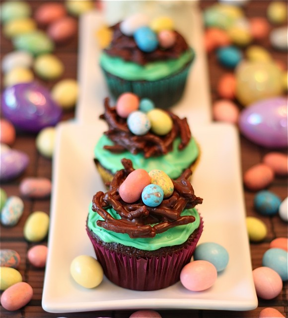 Bird's Nest Easter Cupcakes recipe photo