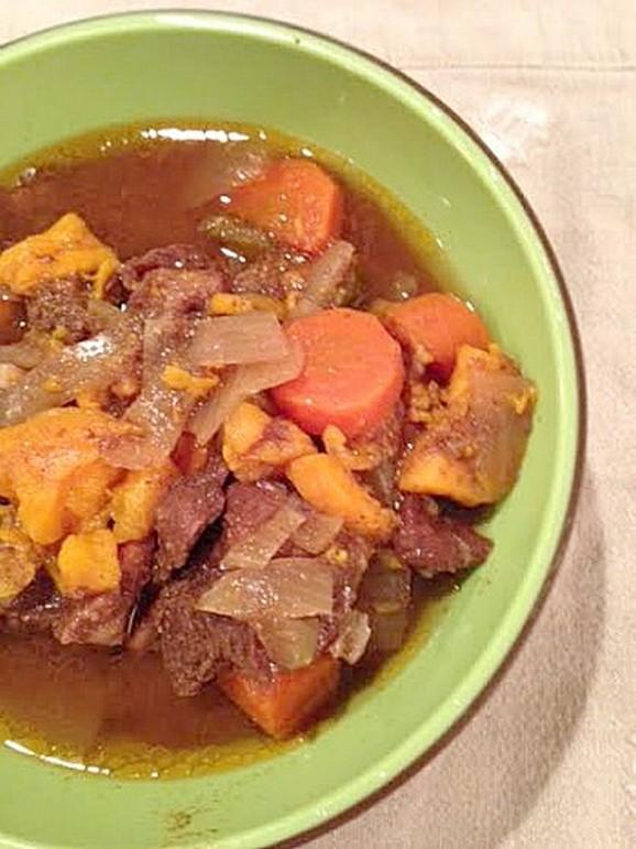 Crockpot Sweet Potato Beef Stew recipe photo