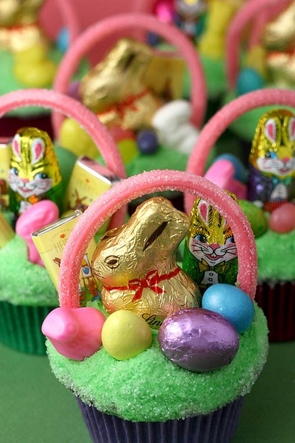 Easter Bunny Chocolate Cupcakes recipe photo