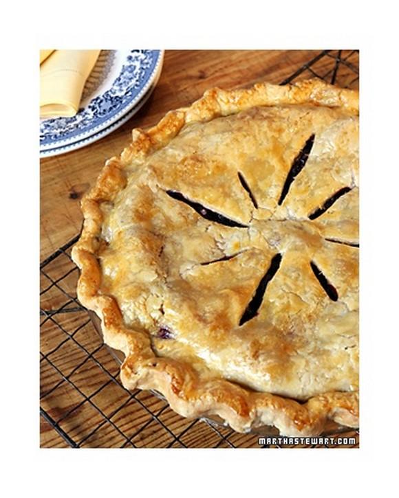 Martha Stewart Blueberry Pie recipe photo