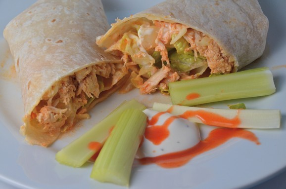 Slow Cooker Buffalo Chicken Wraps recipe photo