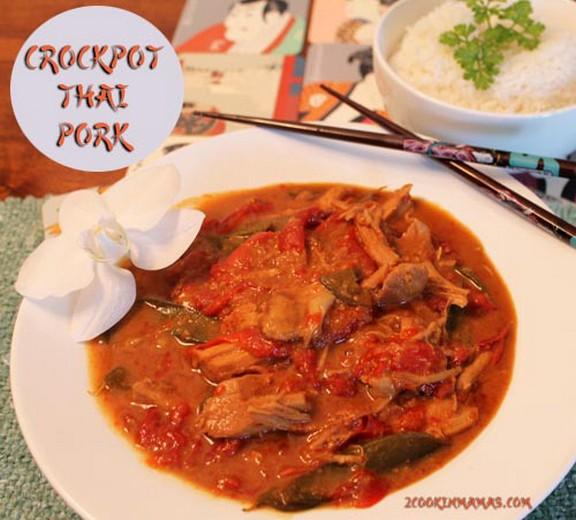 Crockpot Pork Thai-Style recipe photo