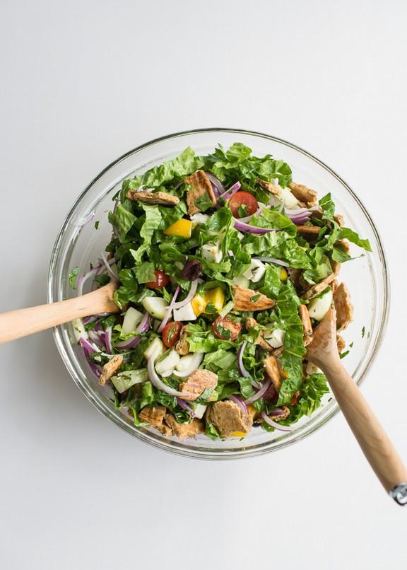 Greek Fattoush Salad recipe