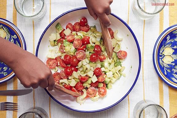 Truffled Avocado, Tomato, and Hearts of Palm Salad recipe