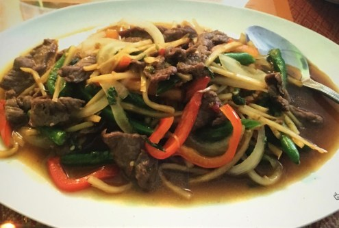 Pad Gra Pow with Beef