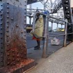 The bridge that is in danger of collapse from spit