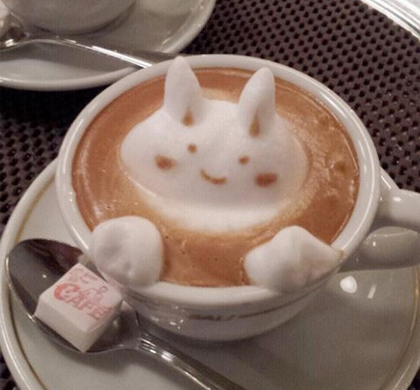 Latte-art-bunny