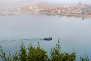 Misty morning early in Ribadesella