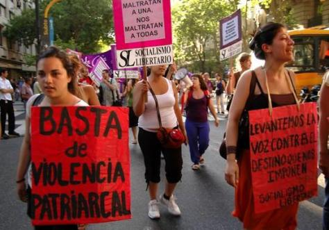 'No More Patriarchal Violence' .. 'Abusing one of us they abuse us all' .. 'We cry out against our forced destiny'..