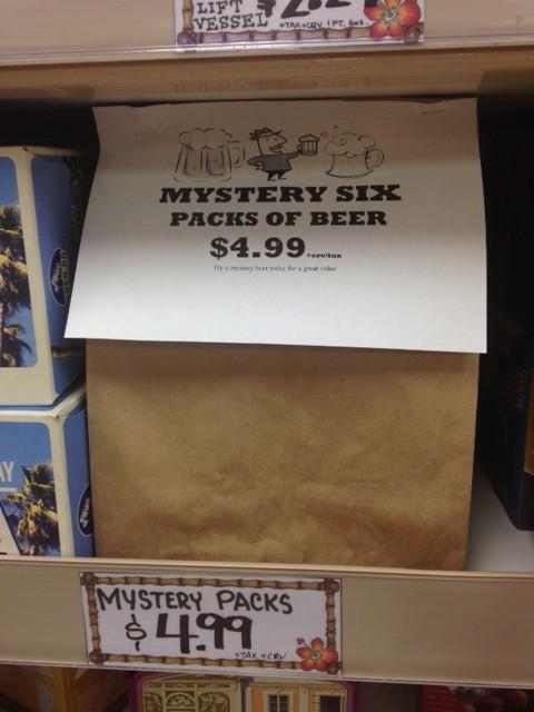 Trader Joe's Mystery Six Pack of Beer
