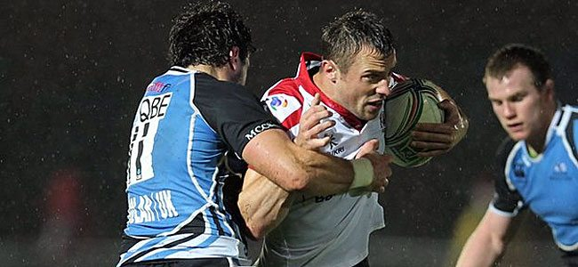 Tommy Bowe in action against Glasgow. Picture PressEye