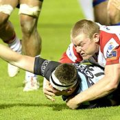 A shameful end to Tom Courts career at Ulster. Forced to play out of position while injured, further salt is rubbed into the wound with a try being awarded to the tackled Mark Bennett after the ball was dropped over the line.