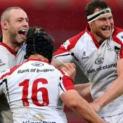 Celebrations for Ulster at Thomond.