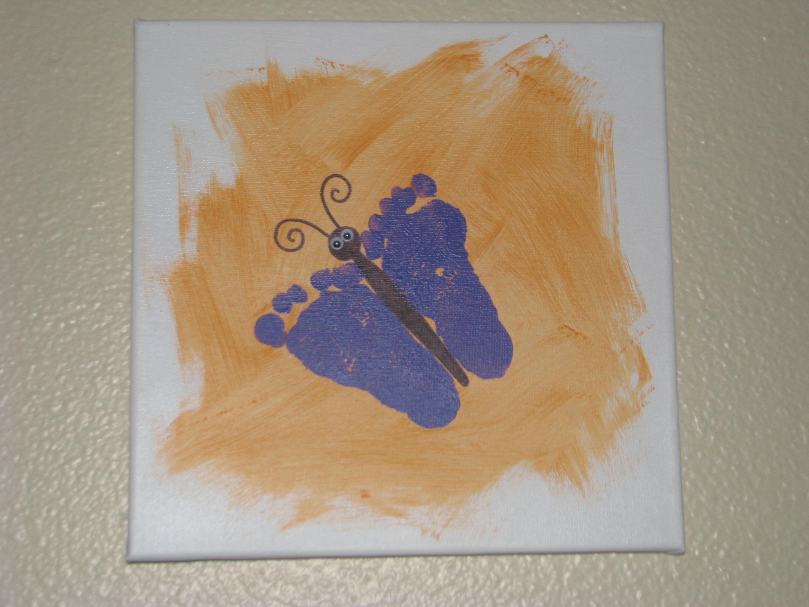 Handprint and footprint art ideas