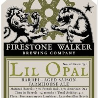 Firestone Walker Barrelworks Releases Lil Opal This Weekend