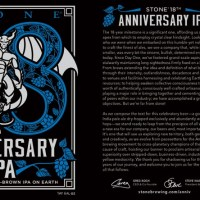 Stone 18th Anniversary IPA - Tasting Notes