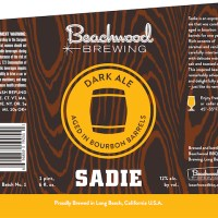 Beachwood Brewing SADIE - Third Barrel Aged Release of 2014