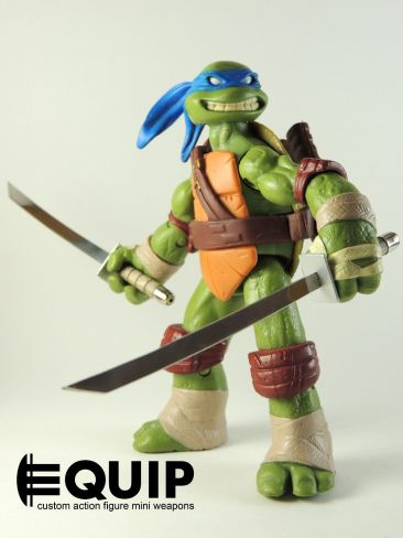 Custom weapons for TMNT 2012 TMNT-Custom-Crafted-Mini-Katanas-Ninja-Turtles-Leonardo-wooden-handles-1