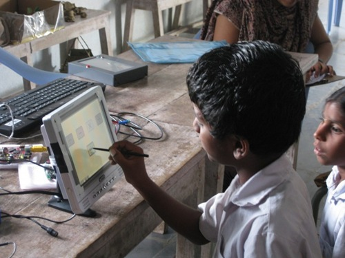 Tablet PC solar tablet pc project solar powered pc islate hyderabad village tablet pc hyderabad hussainpalli