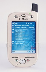T mobile pocket pc phone edition O2 xda HTC first touch screen phone first smartphone