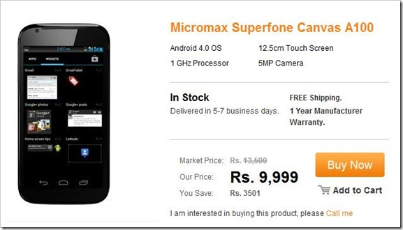 Superfone Canvas A100 price Superfone Canvas A100 availability Superfone Canvas A100 Dual Sim Smartphone