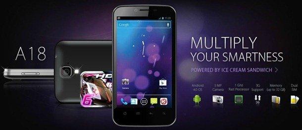 Karbonn Smartphone Karbonn Smart A18 Karbonn Android Phones Karbonn A18 Karbonn android phone