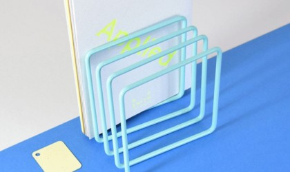 Block Steel Magazine Rack