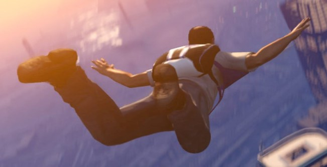 Sky Diving in GTA V a pynical in open world gaming