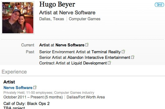 hugobeyerlinkedin530pxheaderimg Black Ops 2 Reportedly Outed By Amazon, LinkedIn
