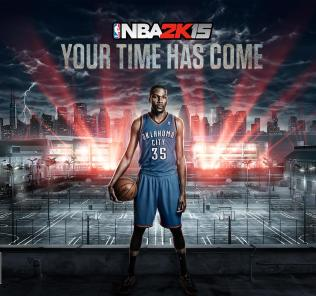 Kevin Durant NBA 2K15 Cover