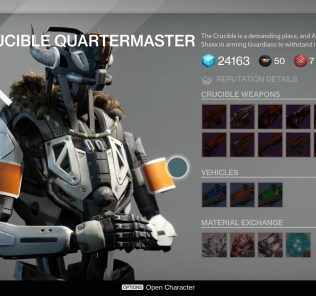 Now you can simply buy upgrade materials from the  Crucible Quartermaster. Screw grinding.