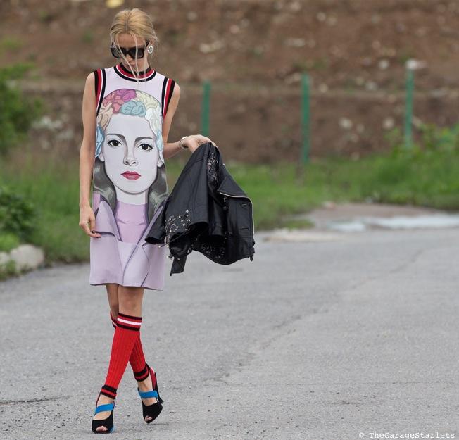 The_Garage_Starlets_Alina_Popov_prada_face_dress_runway_2014.1