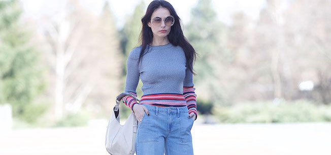 The_Garage_Starlets_Katia_Peneva_Popov_Zara_Chanel_Chloe_Sunglasses_Yves_Saint_Laurent_Flared_Jeans_08 copy