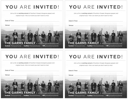 TGF Invitation cards