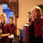 Our passionate lead singer, Leesha, at Elmhurst Commons, 12/17/12